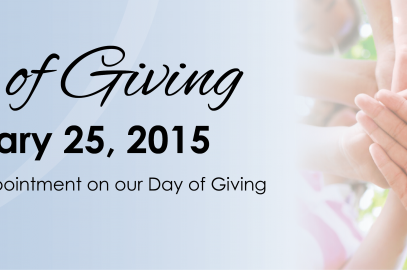 Join Us On Our Day of Giving!